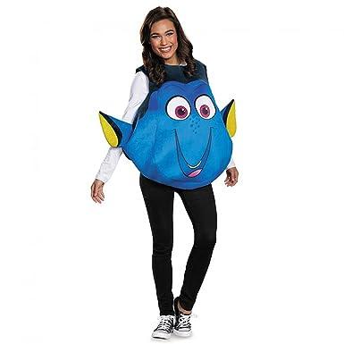 amazon com disney women s finding dory costume blue one size