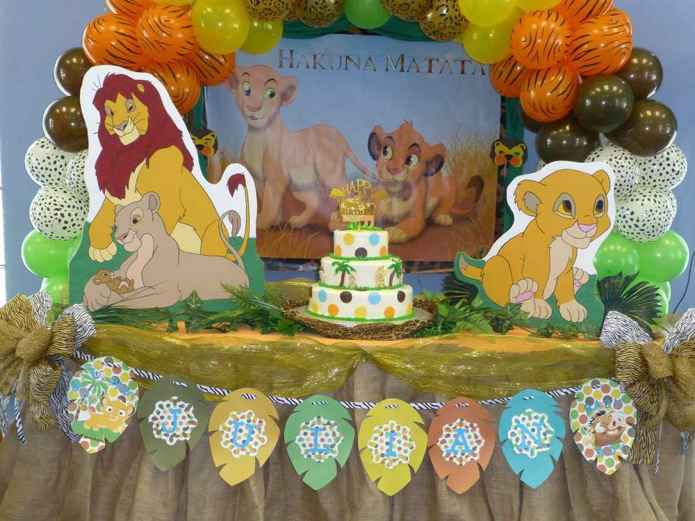 Glitter Lion King Cake Toppers for 4 Years Old Birthday 4 Years Old The Lion King Cake Topper for 4 Years Old Kids Happy 4th Birthday Cake Topper Boys Girls Children Birthday Decorations Party Supplies