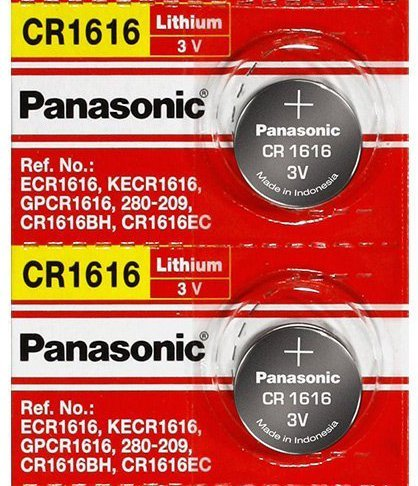 Panasonic CR1616 3V Coin Cell Lithium Battery, Retail Pack of 2 (Cell Panasonic)