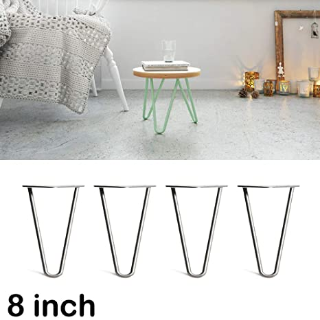Admirable 4X 8Inch Metal Hairpin Industrial Table Legs 20Cm Diy Making Squirreltailoven Fun Painted Chair Ideas Images Squirreltailovenorg