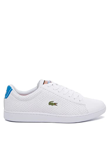 7e3f068b407a Lacoste Carnaby EVO 218 2 SPM Trainers in White   Blue 735SPM0008 080  UK 7  EU 40.5   Amazon.co.uk  Shoes   Bags