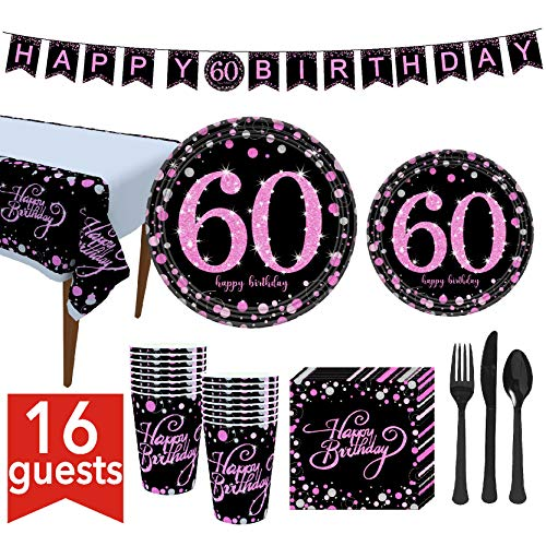 Best 60th birthday plates pink to buy in 2020