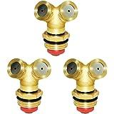 "Joywayus Brass Misting Spray Nozzle 1/2"" 2-Holes Garden Sprinklers Irrigation Connector Water Sprinklers Mister Heads Fitting"