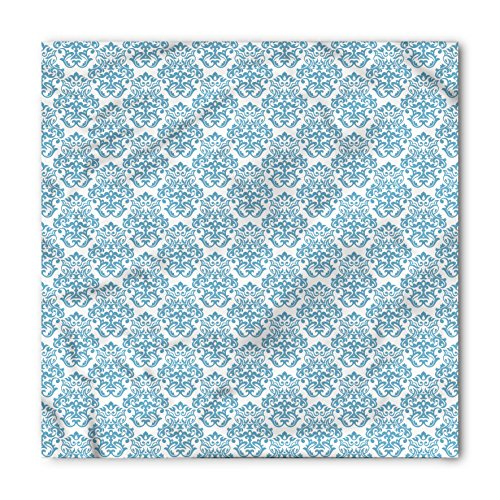 Victorian Bandana by Ambesonne, Vintage Illustration Fabric Design Pattern History Middle Ages Royal Symbol Art, Printed Unisex Bandana Head and Neck Tie Scarf Headband, 22 X 22 Inches, Baby Blue (History Design Bandana)