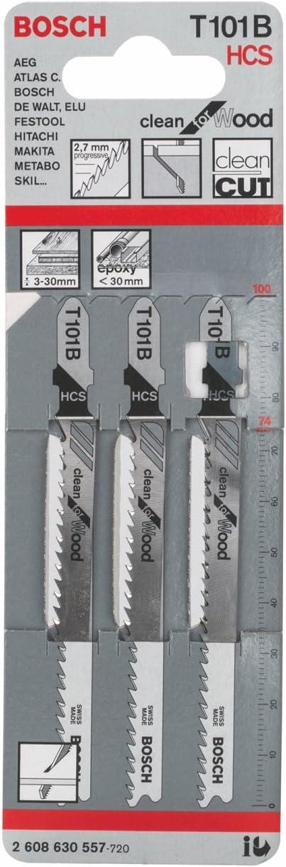 Bosch 2608631507 Lot de 3 lames pour scie sauteuse T 118 A
