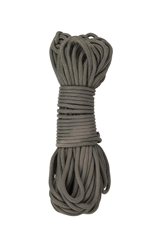 Mountain Warehouse Fallschirmschnur - Länge: 15 m, kann nach Belieben zugeschnitten werden, Khakifarbe, Mehrzweckschnur - Ideal für Überlebenssäcke für Schutzunterkünfte