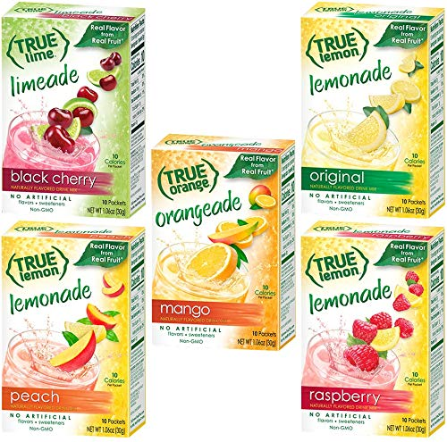 True Lemon Assorted Beverage & Lemonade Drink Mixes 10 Ct 1.06oz(Pack of 5)