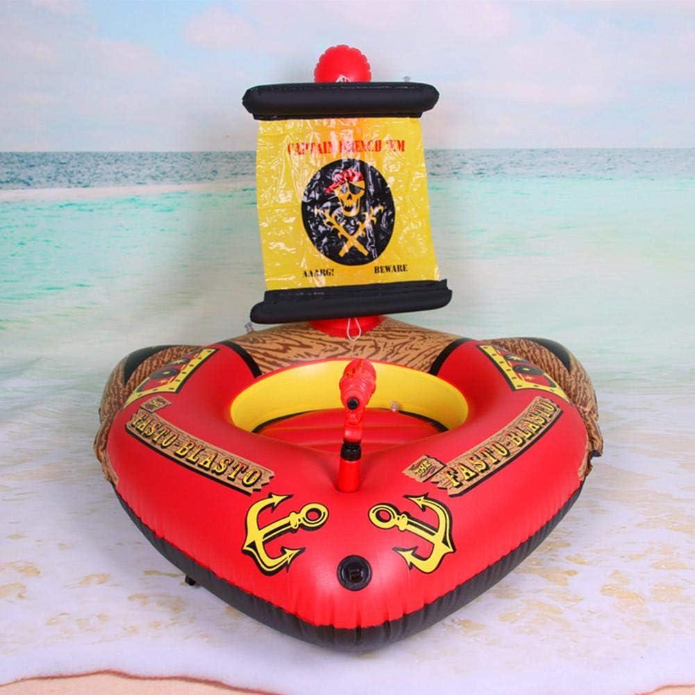 SLONG Inflable Barco Pirata De Verano De Los Niños Piscina Juguete ...