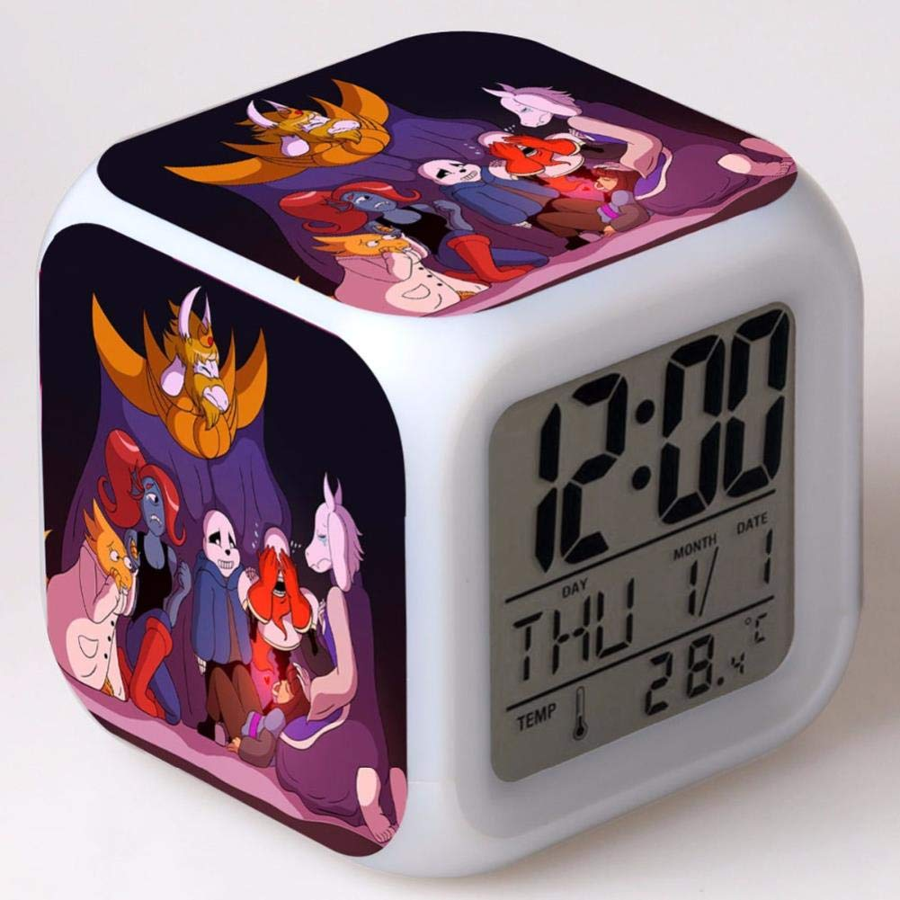 Amazon.com: projection alarm clock Undertale LED Alarm Clock Square Digital Clock Reloj: Clothing