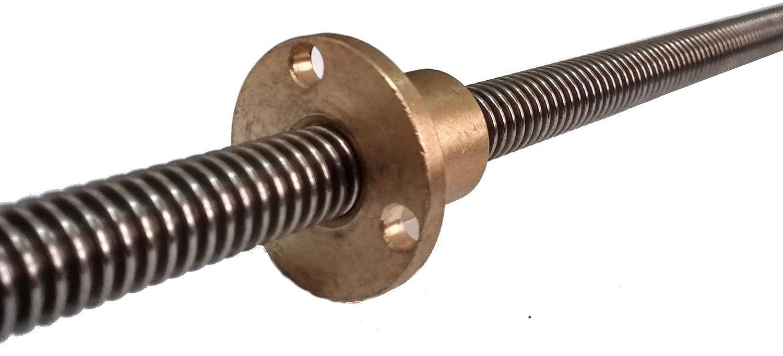 Husillo – 10 mm – 1start, 300mm, 3D Printer 10mm Lead Screw Rod ...
