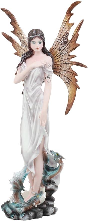 Enchanted Garden Fairy Figurine Fantasy Figure Pink Purple Blue or Yellow