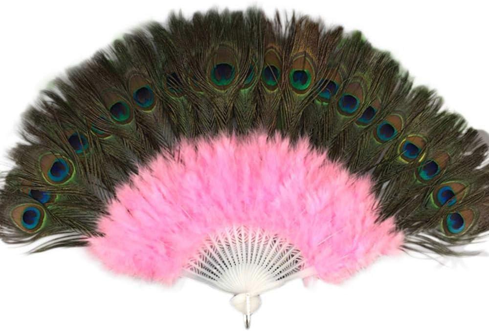 Cula Éventail pliant en forme de plumes pour mariage Bleu Ciel