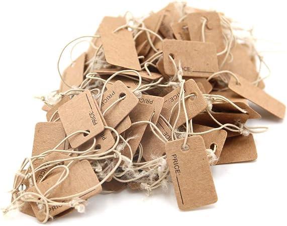 Lot de 500 /étiquettes de prix avec cordon