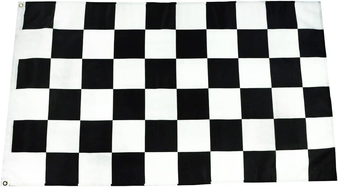 TG,LLC Treasure Gurus 3x5 Ft Checkered Racing Flag 3 x 5 Foot Yard Banner 3'x5' Garage Auto Shop Decor