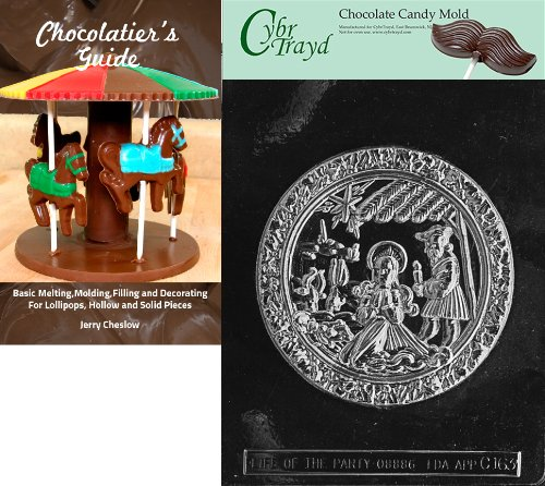 Cybrtrayd 'Nativity Plaque' Christmas Chocolate Candy Mold with Chocolatier's Guide