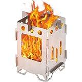 Lixada バーベキューコンロ・焚火台 ポータブル ステンレススチール製 軽量 薪ストーブ 焼き網付き 薪ストーブ+焼き網セットソリッドアルコールストーブ