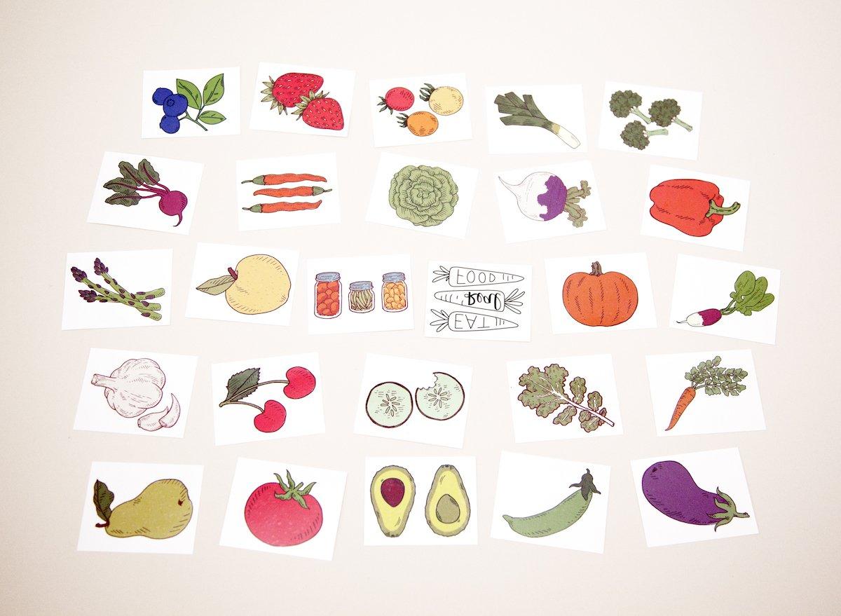 Tater Tats Pop-Up Tattoo Parlor: 100 Temporary Vegetable Tattoos by Tater Tats (Image #6)