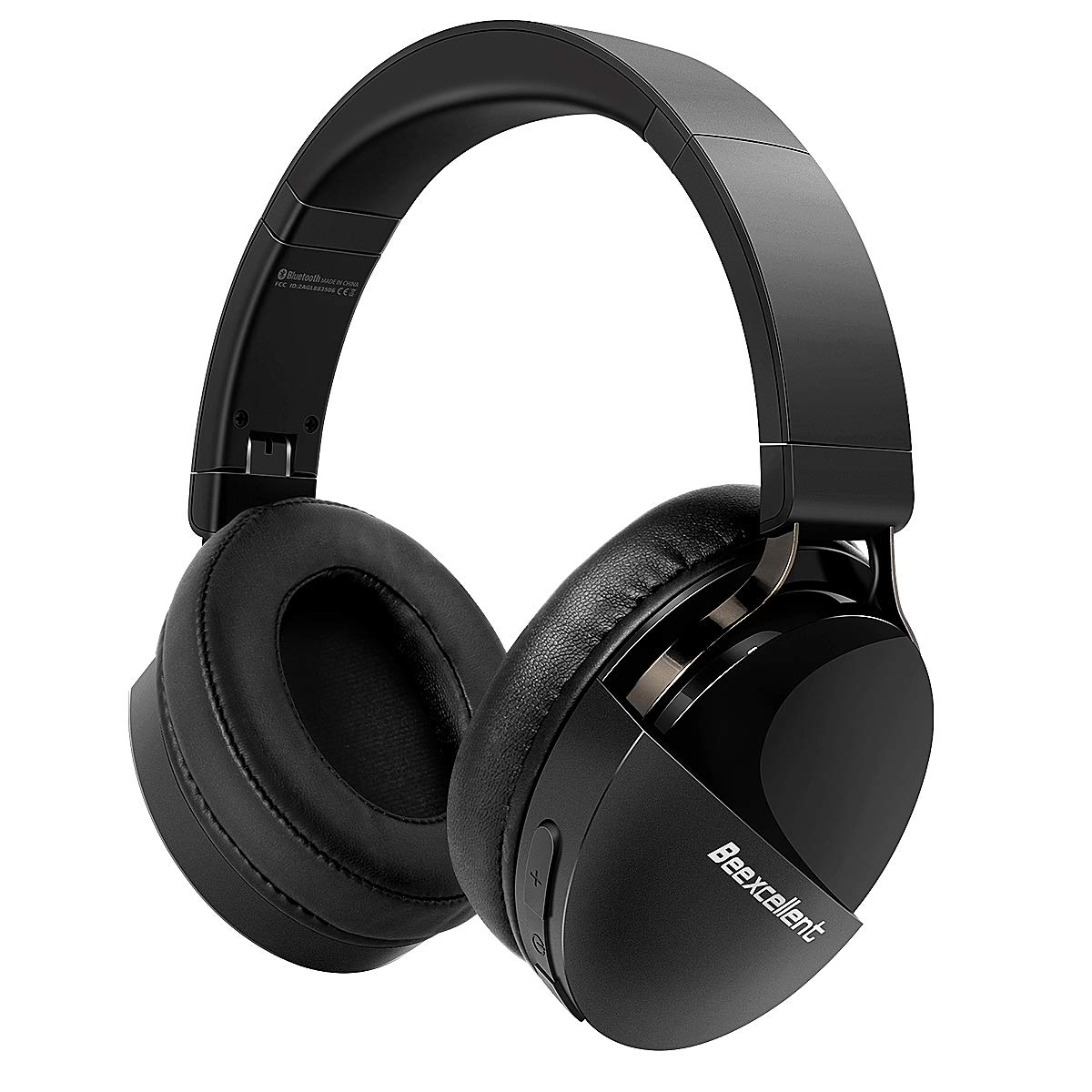Beexcellent Wireless Bluetooth Headphones, 40 Hours HiFi Stereo Cvc6.0 Bluetooth 5.0 Over Ear Headphones with Mic for iPhone Samsung Huawei iPad Cellphone