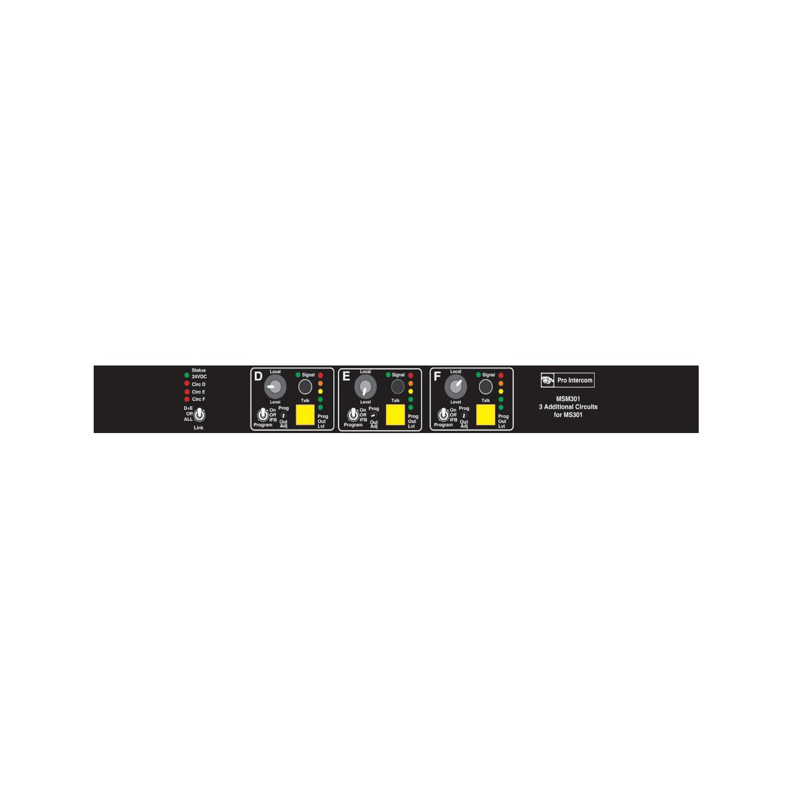 Pro Intercom MSM301 | 3 Circuit Master Station Module for MS301 by Pro Intercom