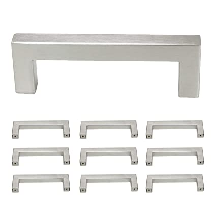 Wondrous Probrico Square 3 3 4 Inch Holes Distance Kitchen Cupboard Handles And Pulls Stainless Steel Cabinet Drawer Handles Brushed Nickel 5 1 2 Inch Total Download Free Architecture Designs Scobabritishbridgeorg