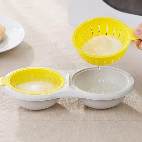 Huir escalfador de huevos para microondas doble dos color ...