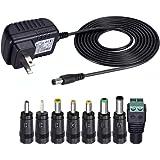 Amazon.com: Trnaroy Universal AC/DC Adapter 12V 2Amp Power ...