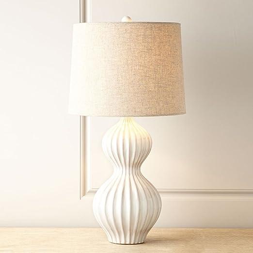 Lámparas de escritorio Estilo Americana Creativas Blancas lámpara ...