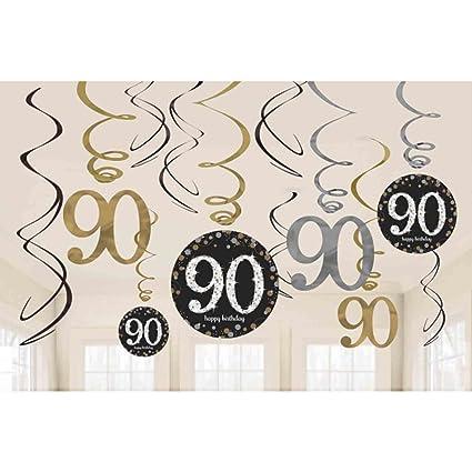 Decoración colgante para fiesta de 90 cumpleaños ...
