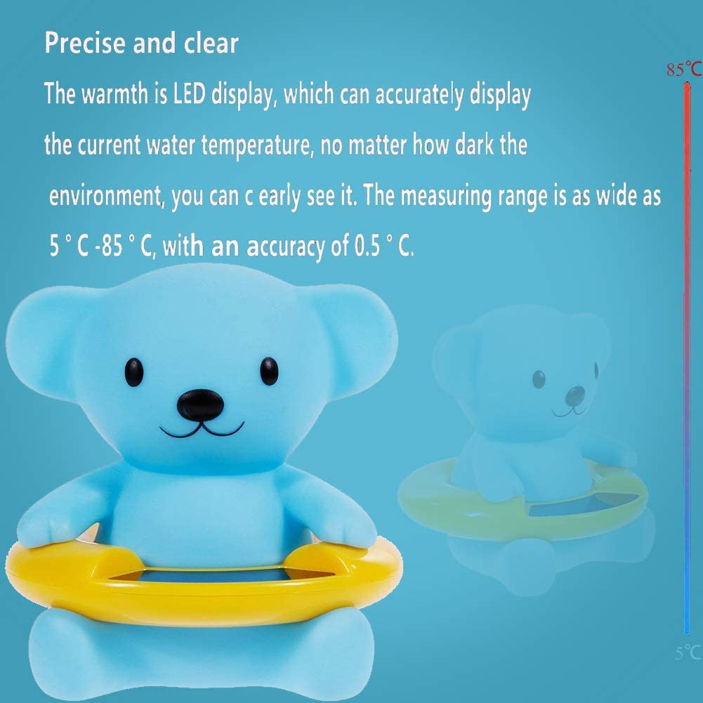 Bear Cartoon Appearance Baby Water Thermometer Floating Bathroom Thermometer for Bathtub and Swimming Pool WENTS Baby Bathtub Thermometer