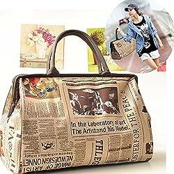 New BryanMarvel Fashion Women leather Handbag Shoulder Bag Book School Purse Satchel