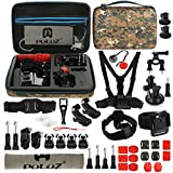 PULUZ 45 in 1 Gopro Session Camera Accessory Kit GoPro Hero 6,5 Black, Hero Session,Hero 5,4,3,3+,Session,GoPro Fusion,AKASO,SJCAM,DBPOWER,Sports Action Camera,Accessories Kit