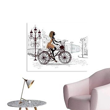 Amazon.com: Teen Room Decor Wall Decor Young Girl in Paris ...