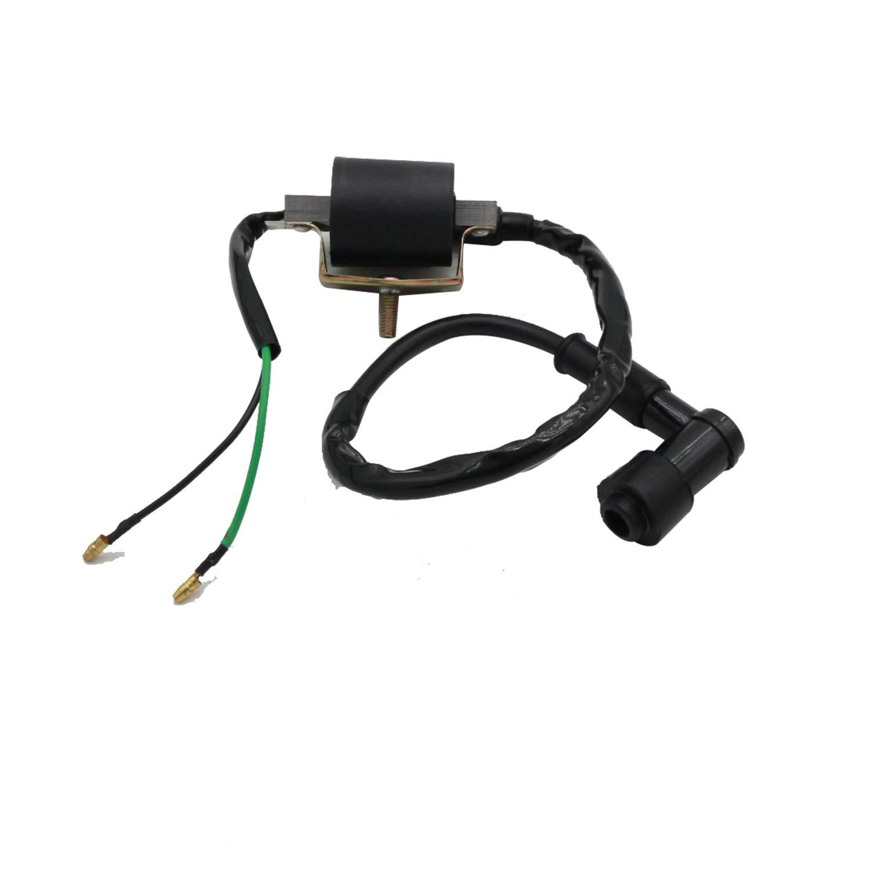 CNCMOTOK Wiring Loom Harness Kill Switch Ignition Coil Cdi Box Spark Plug Rebuild Kit for Kick Start Dirt Pit Bike ATV 50CC 70CC 90CC 110CC-160cc Buggy Go Kart Wire Harness by CNCMOTOK (Image #4)