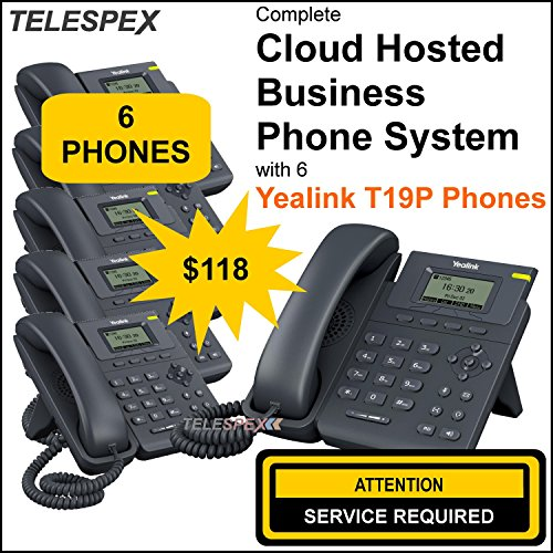 LIMITED TIME OFFER - BUY 2 VOIP PHONES GET 4 FREE - TELESPEX Business Phone System with 6 Phones - (800) ()