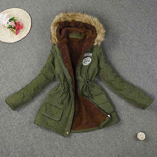 MCYs Damen Beiläufig Übergroß Warm Pelzkragen Kapuzenjacke Winter Parka  Outwear Kapuze Designer Winterjacke Outdoor Reißverschluss Jacke ... e14f35a6ed
