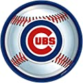 """Amscan Chicago Cubs Round Dinner Plates, 9"""""""
