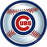 Amscan Chicago Cubs Round Dinner Plates, 9""