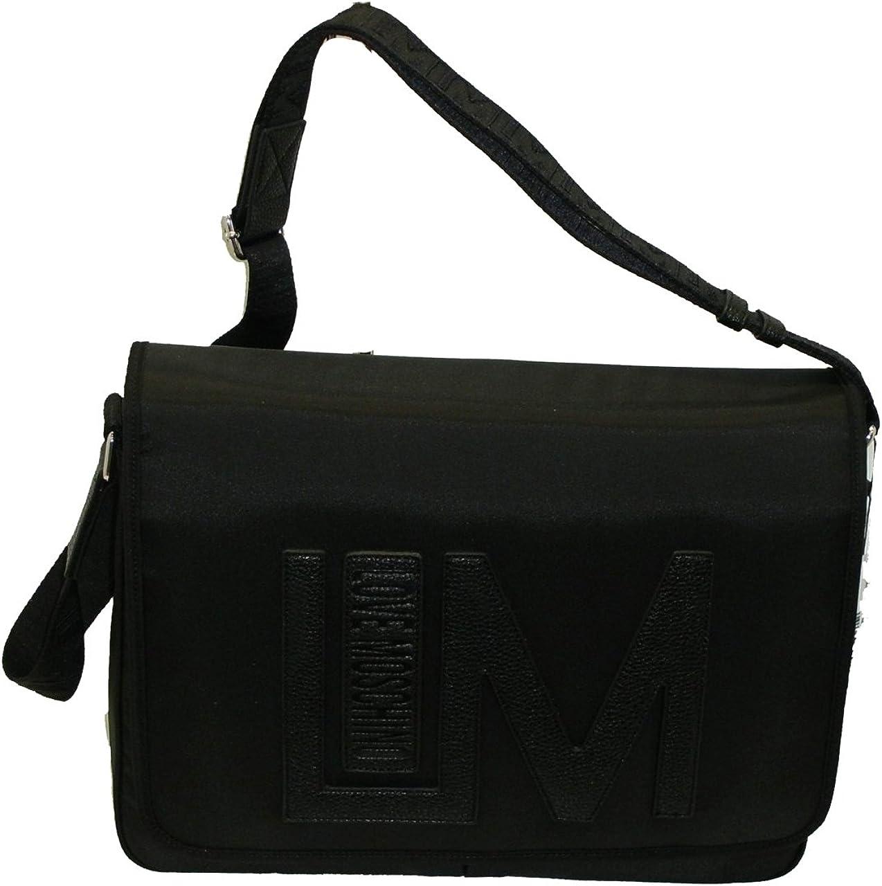 Bolso de hombre Moschino Love MESSENGER JD4711 negro: Amazon