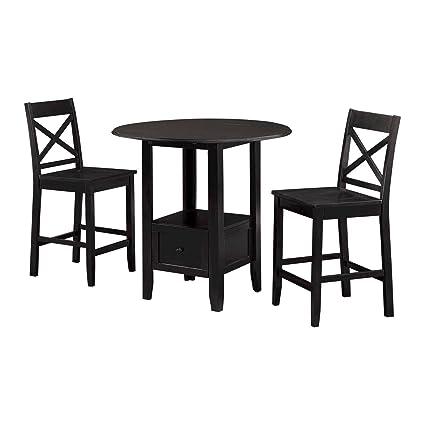 Amazon.com - 3 Piece Storage Pub Set - Table & Chair Sets