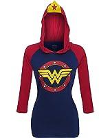 Wonder Woman Stars Symbol Women's Hoodie with Crown