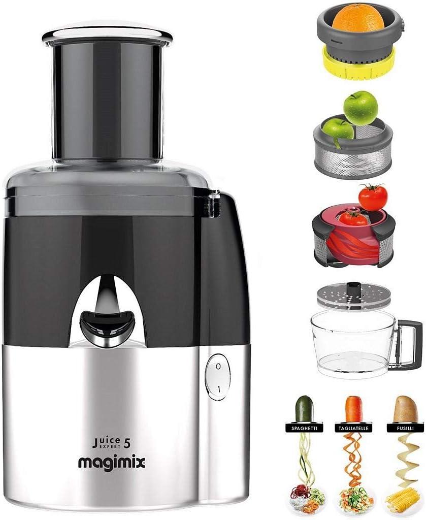 Magimix Juice Expert 5 Licuadora centrífuga Negro, Cromo 400 W ...