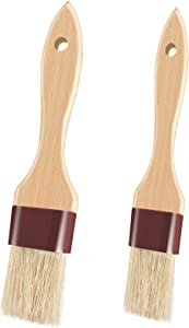 Pastry Brush for Baking Basting Brush with Boar Bristles and Beech Hardwood Handles Culinary Oil Brush for Barbecue Butter Grill BBQ Sauce Baster Marinade Kitchen Food Cooking Brushes