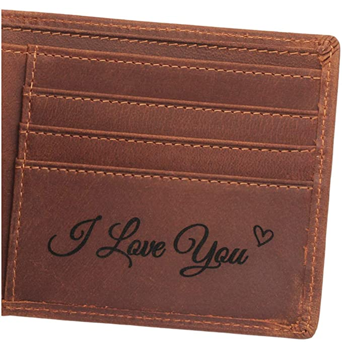 c0031b00718 Personalized Men Leather Wallet, Anniversary Gifts for Men, Husband ...