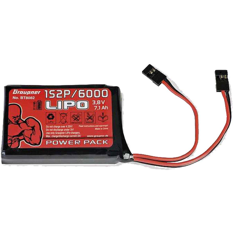 Emisor SP3676B1 A batería Lipo/6000 3,8 V TX 27 Wh Graupner