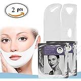Gesicht Abnehmen Maske, V Gesicht Wange anheben kinn Maske, Face-Lifting Maske, Anti-Falten Maske für Gesicht und Kinn, reduziert & formt Doppelkinn, Natürliches Facelifting gegen Doppelkinn