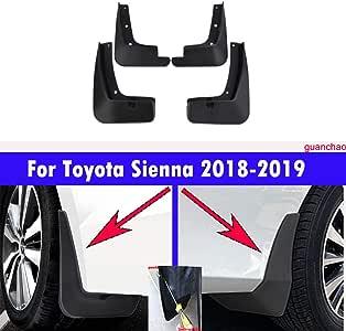 4 Mud Flaps Splash Guards Fender Car Mudguard for Toyota Sienna 2018 2019