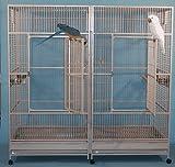 "Big Kahuna with Divider Bird Cage - 80"" X 40"" X 79"" - Platinum"