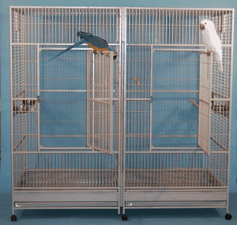Big Kahuna With Divider Bird Cage – Black Silver, My Pet Supplies