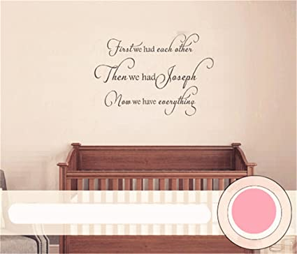 Amazon com: Room Wall Decor Stickers First We Had Each Other