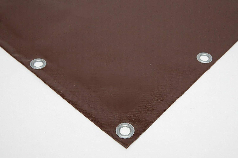 lona de PVC con ojales de 12 mm varios colores Lona para camiones Negro 720 g//m2 sin dobladillo